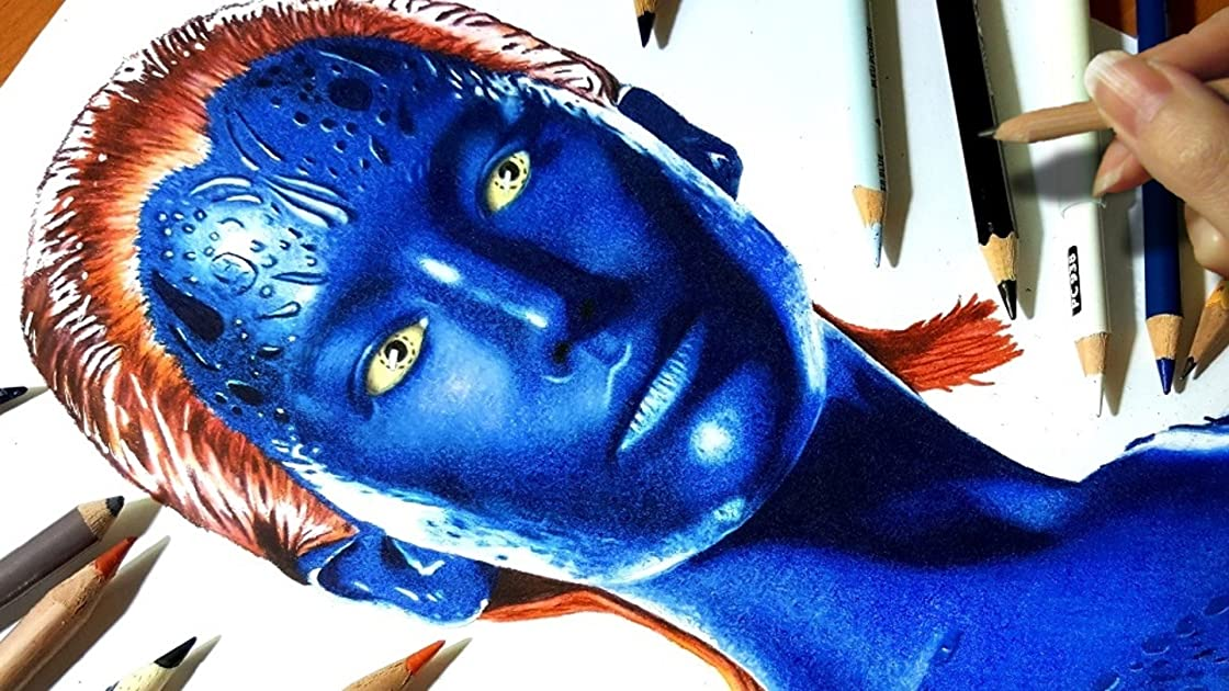 Drawing Mystique on Amazon Prime Video UK