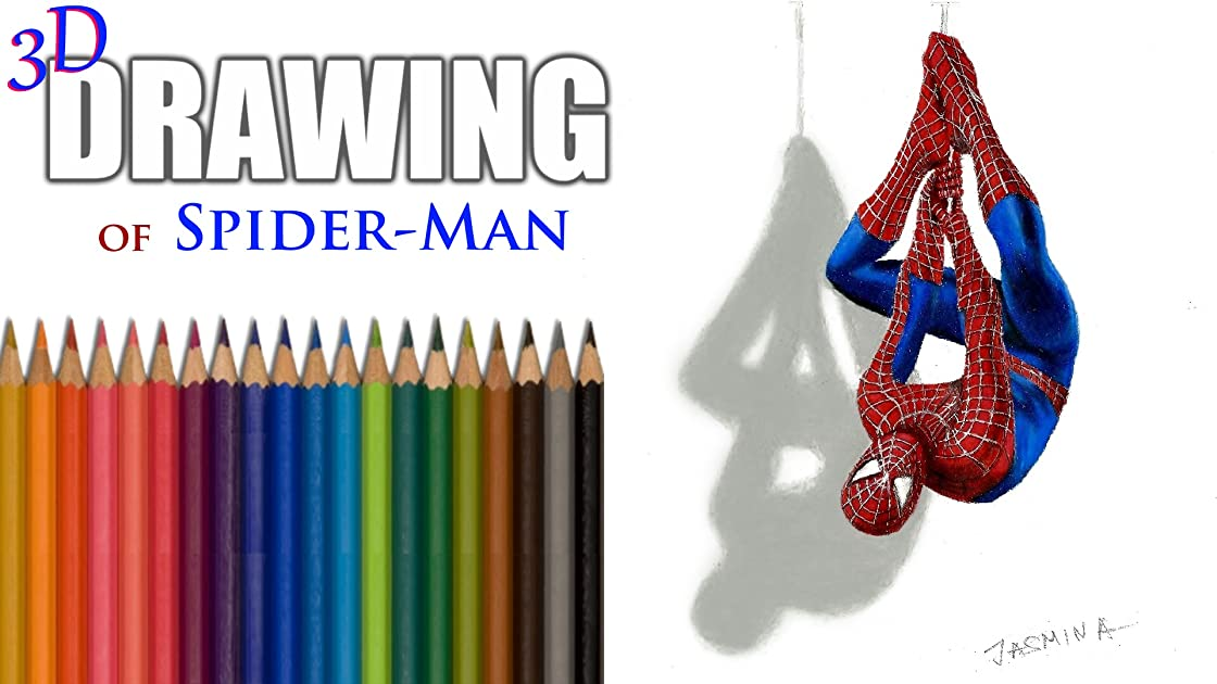 Clip: 3D Drawing of Spider-Man
