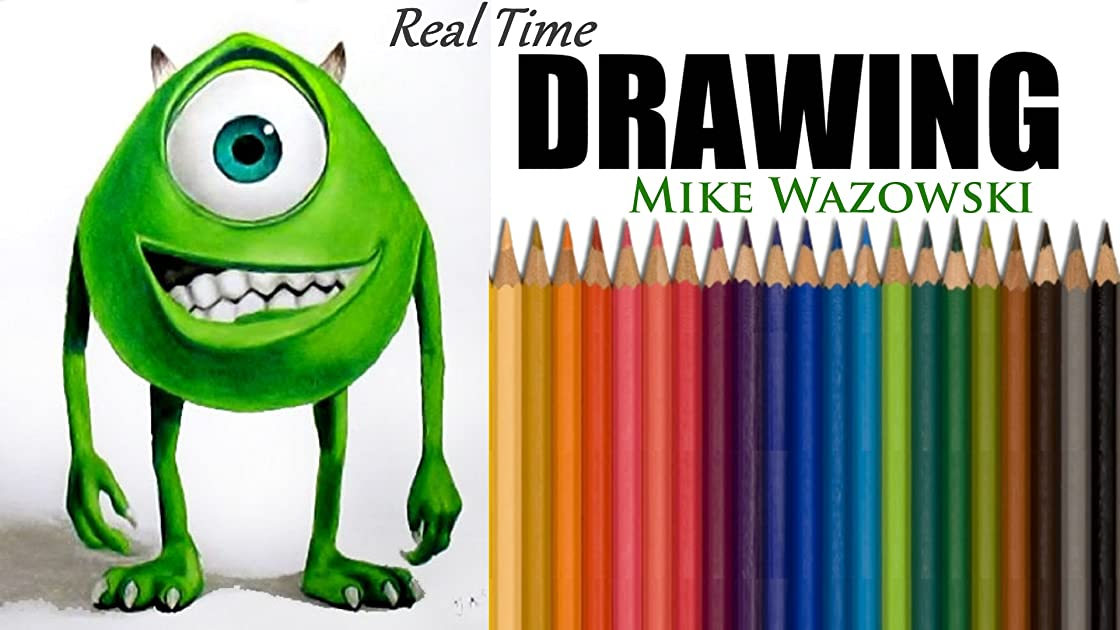 Real Time Drawing Mike Wazowski