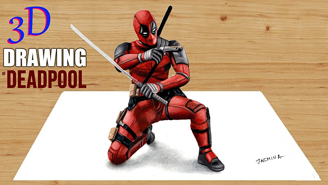 3D Drawing of Deadpool