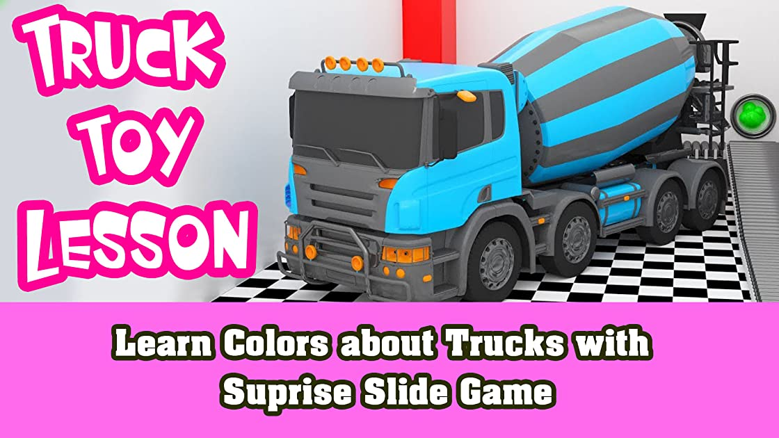 Learn Colors about Trucks with Suprise Slide Game