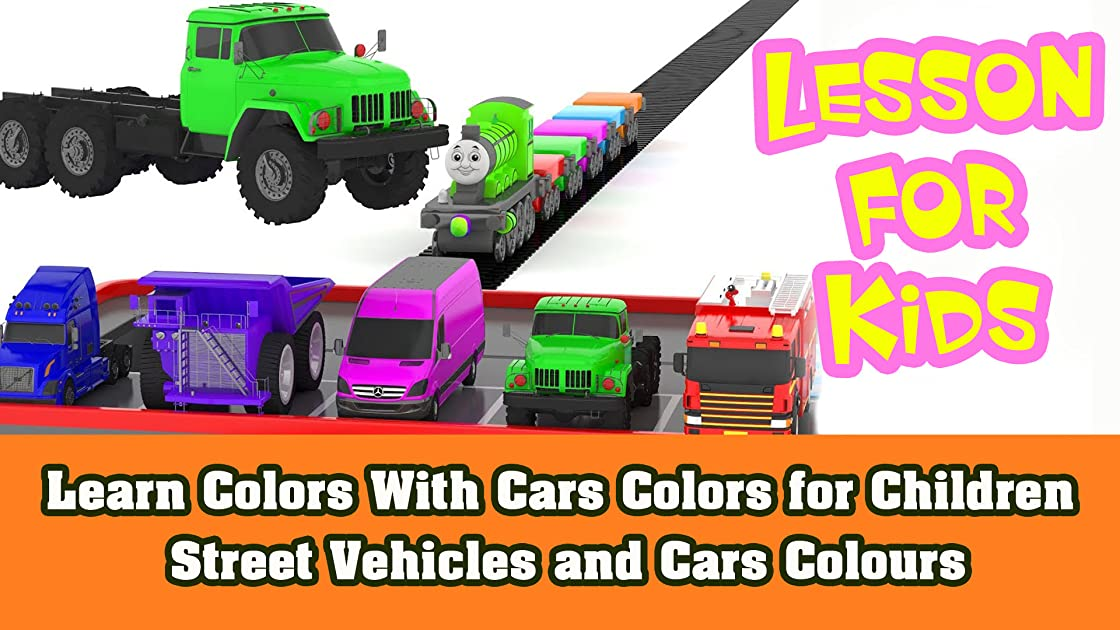 Learn Colors With Cars Colors for Children Street Vehicles and Cars Colours