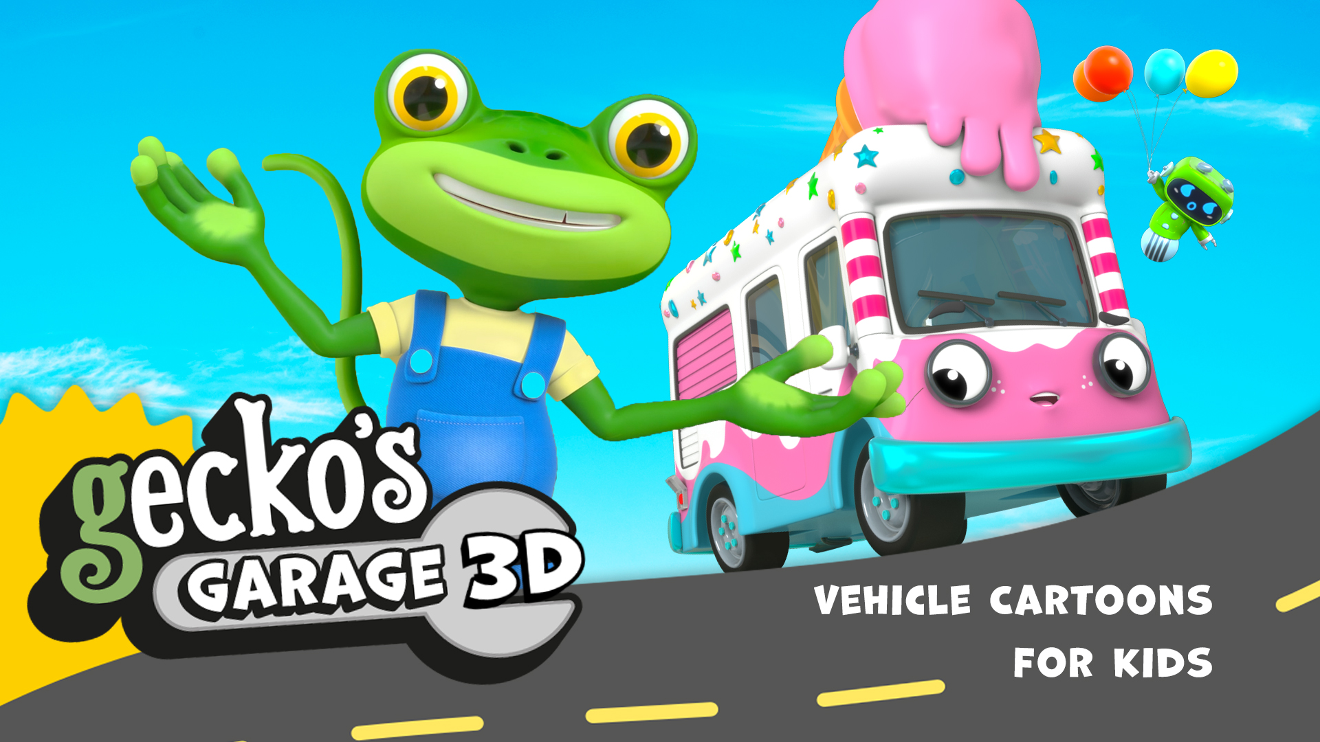 Gecko's Garage 3D - Vehicle Cartoons for Kids - Season 1