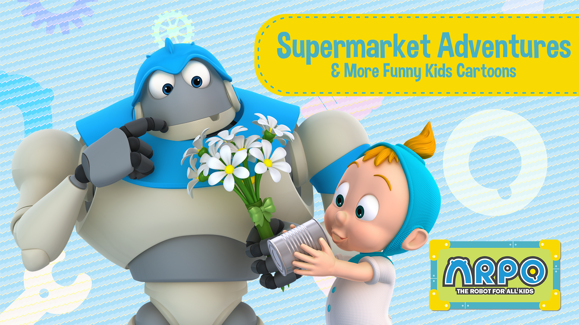 Arpo the Robot for All Kids - Supermarket Adventures & More Funny Kids Cartoons