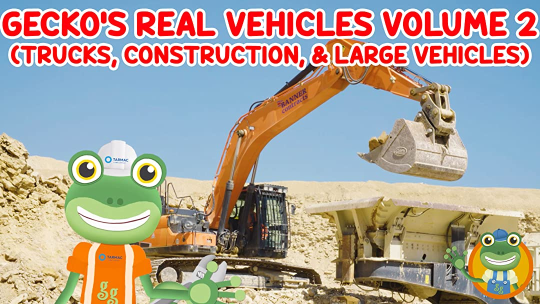 Gecko's Garage Real Vehichles Volume 2 (Trucks, Construction and Large Vehicles)