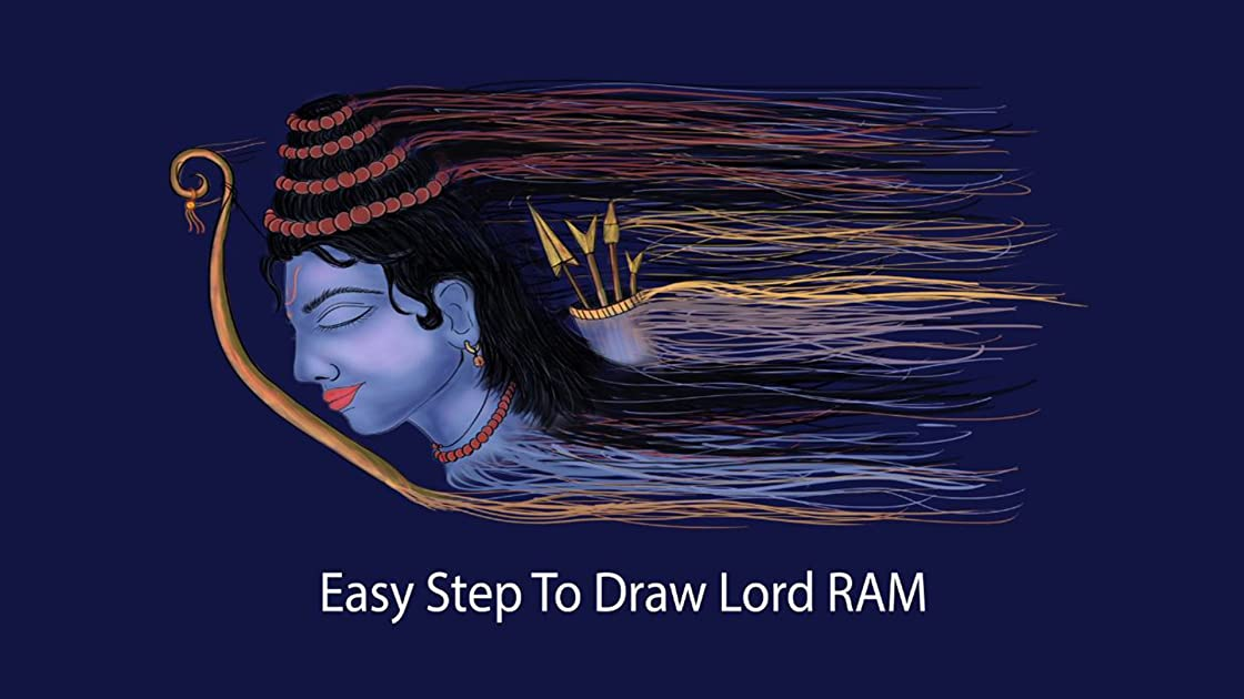 easy step to draw lord ram