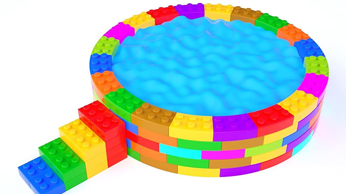 Babies Learning Colors with Sand Rainbow Pool Lego