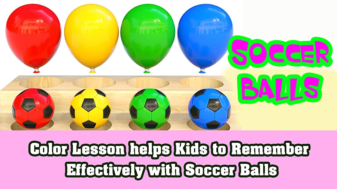 Color Lesson helps Kids to Remember Effectively with Soccer Balls