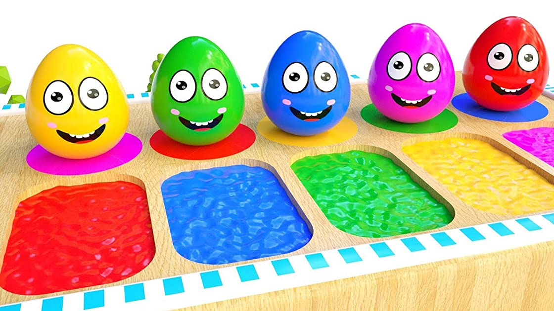 Learn Colors With Amazing Eggs for Children Toddlers