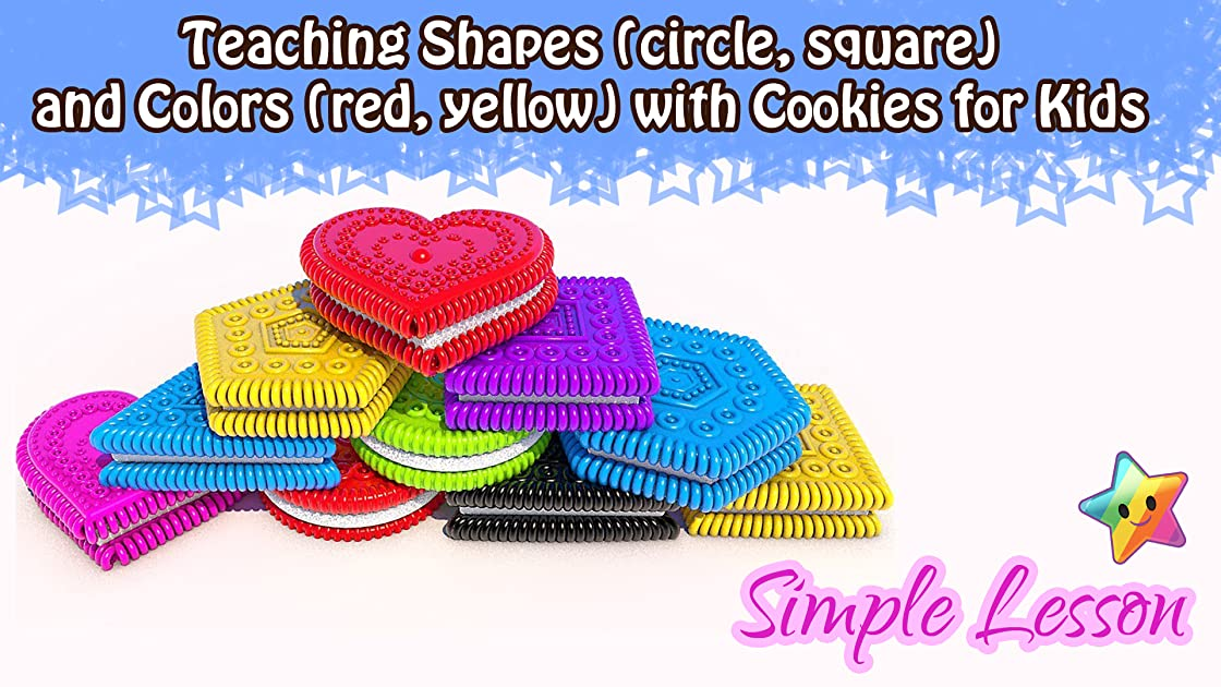 Teaching Shapes (circle, square) and Colors (red, yellow) with Cookies for Kids on Amazon Prime Video UK
