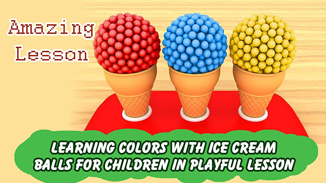 Learning Colors with Ice Cream Balls for Children in Playful Lesson on Amazon Prime Instant Video UK
