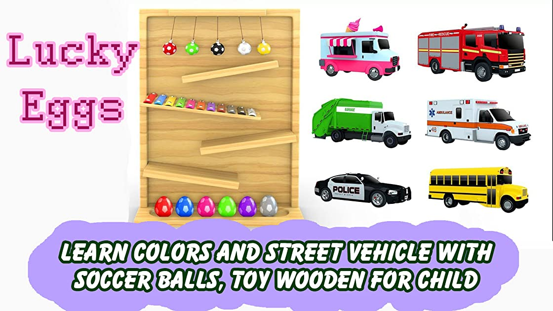 Learn Colors and Street Vehicle with Soccer Balls, Toy Wooden for Child on Amazon Prime Instant Video UK