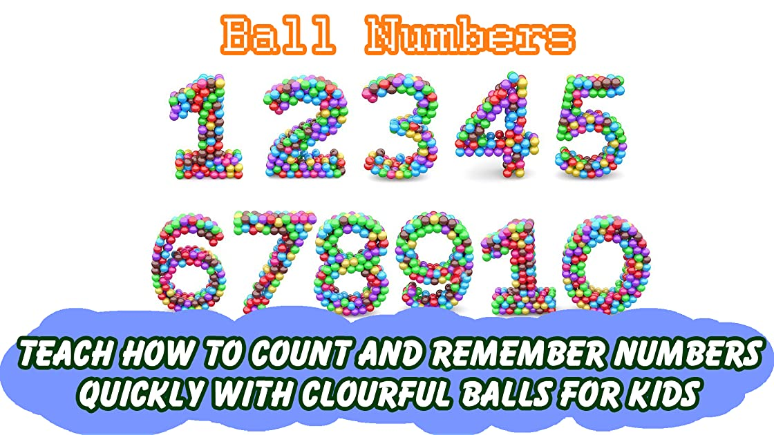 Teach How to Count and Remember Numbers quickly with Clourful Balls for Kids
