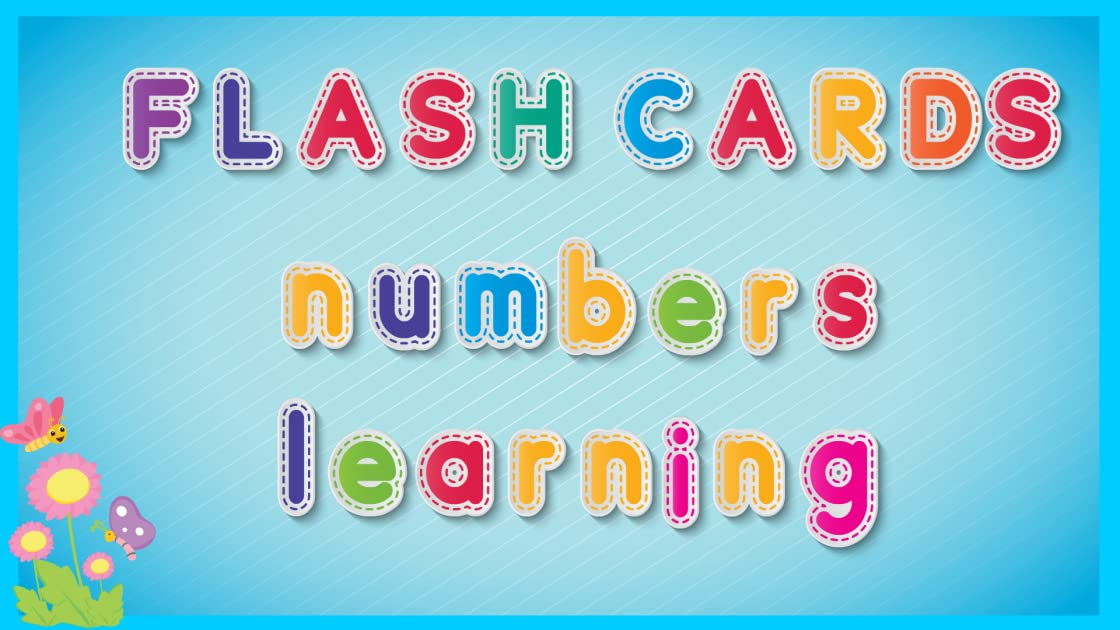 Flash Cards Numbers Learning