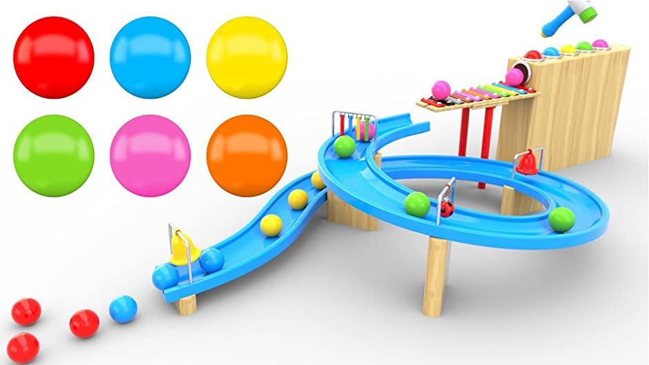 Amazon.com: Learning Colours and Shapes with Marble Maze Run and ...
