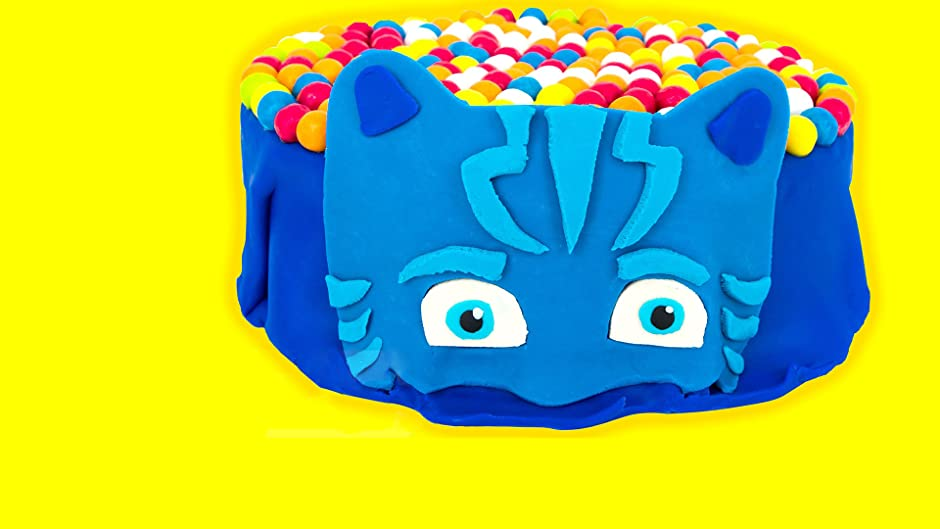 Amazon.com: PJ MASKS Play Doh Surprise Cake opening with Catboy, Gekko, and Owlette Surprise Eggs: Kathy, Jason, Awesome Toys TV