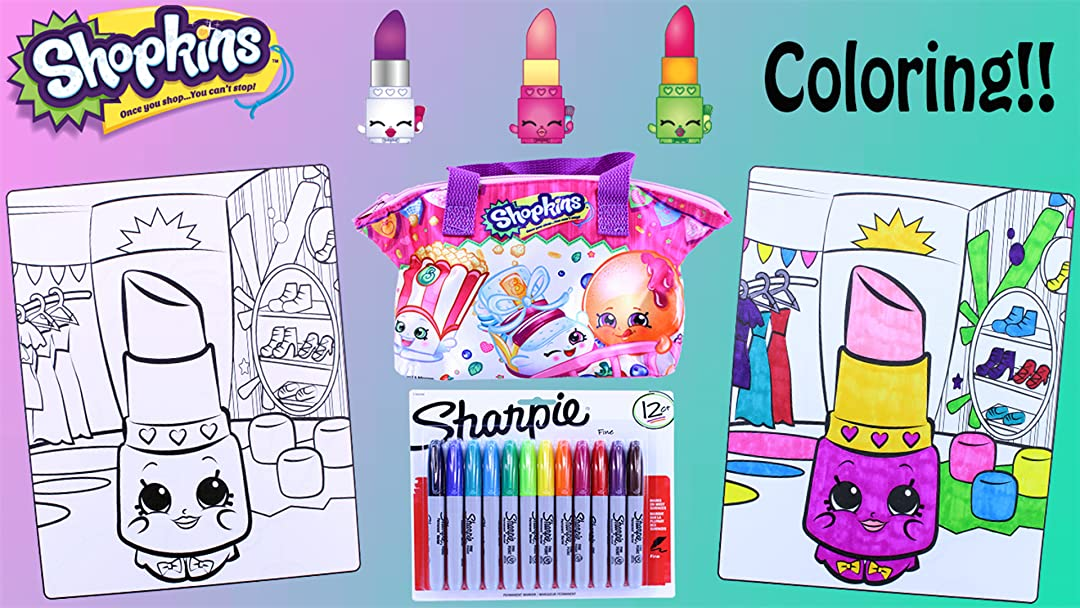 Amazon Com Watch Shopkins Crayola Coloring Pages Lippy Lips
