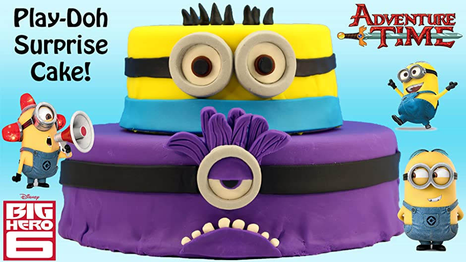 Amazon Huge Despicable Me Minion Play Doh Cake Opening With