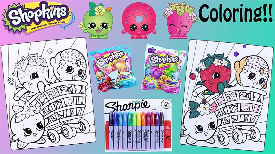 Watch SHOPKINS Crayola Coloring Pages Sharpie Season 1, 2, 3 & 4 Opening  Prime Video