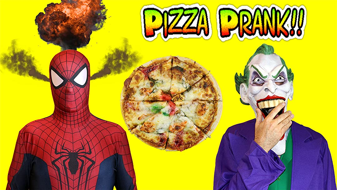 Watch Spiderman Vs Joker Pizza Prank Funny Superheroes In Real Life Prime Video