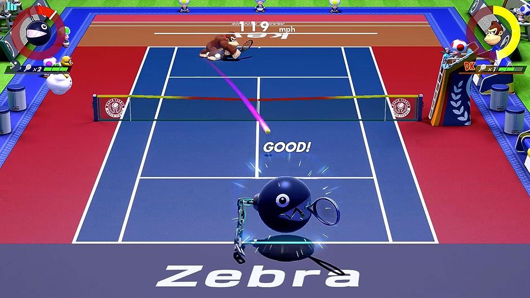 Amazon Com Watch Clip Mario Tennis Aces Gameplay Zebra