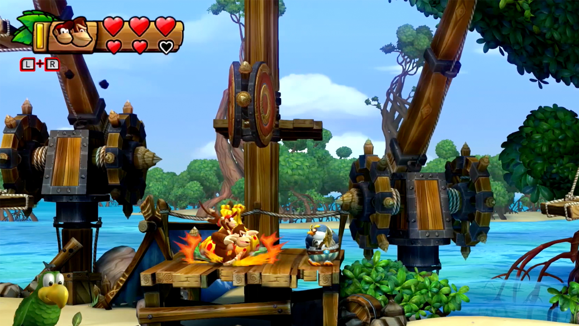 Watch Clip Donkey Kong Country Tropical Freeze Gameplay Zebra