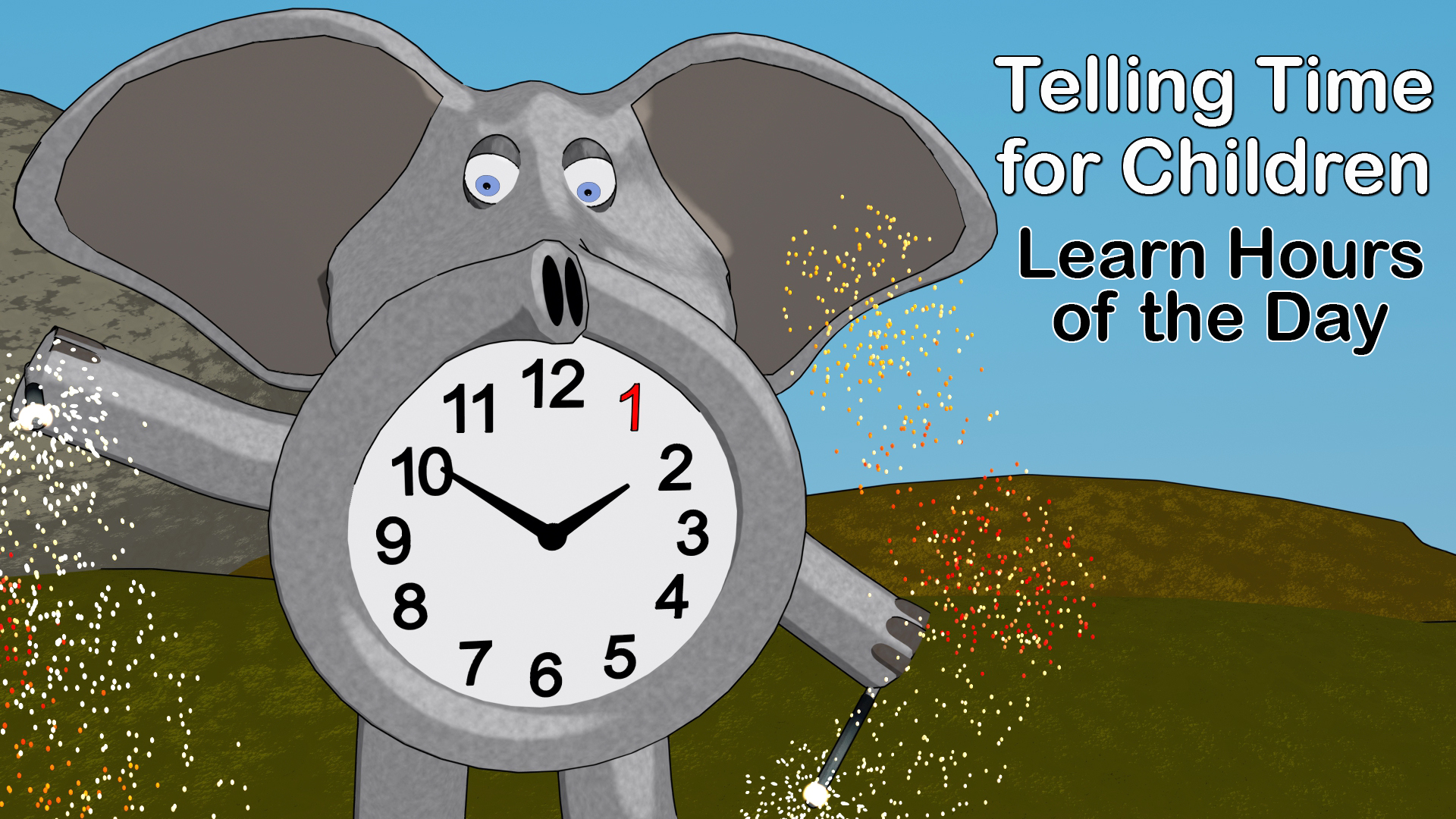 Telling Time for Children - Learn Hours of the Day