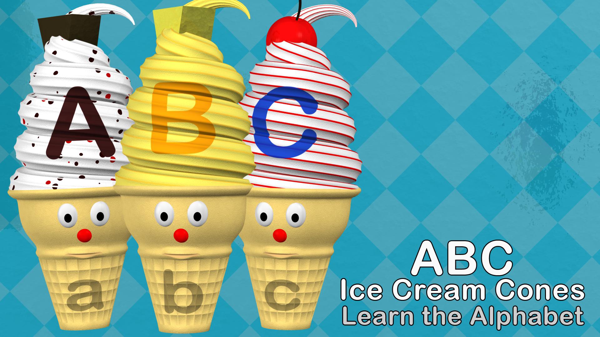 ABC Ice Cream Cones - Learn the Alphabet