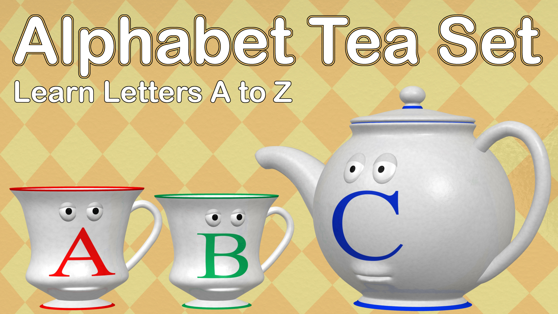 Alphabet Tea Set - Learn Letters A to Z