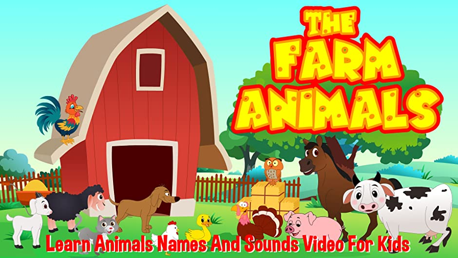 Amazon Com The Farm Animals Learn Animals Names And Sounds Video
