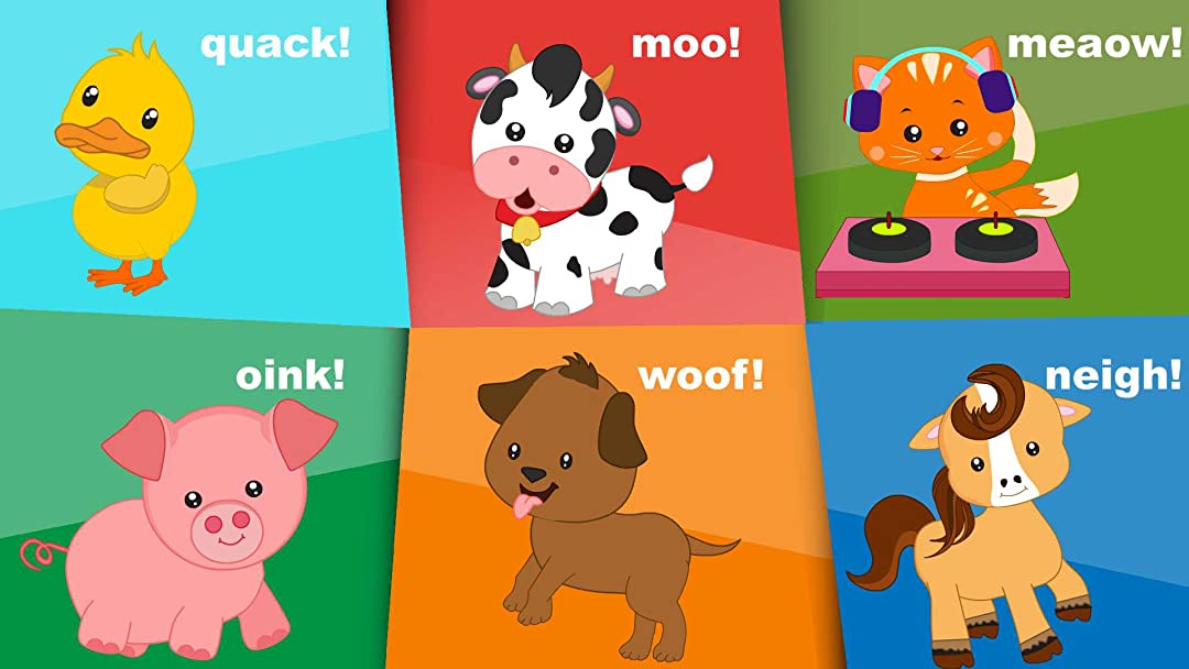 animals names sounds song amazon cartoon tv toddlers farm 1st