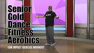 Senior Gold Dance Fitness Aerobics
