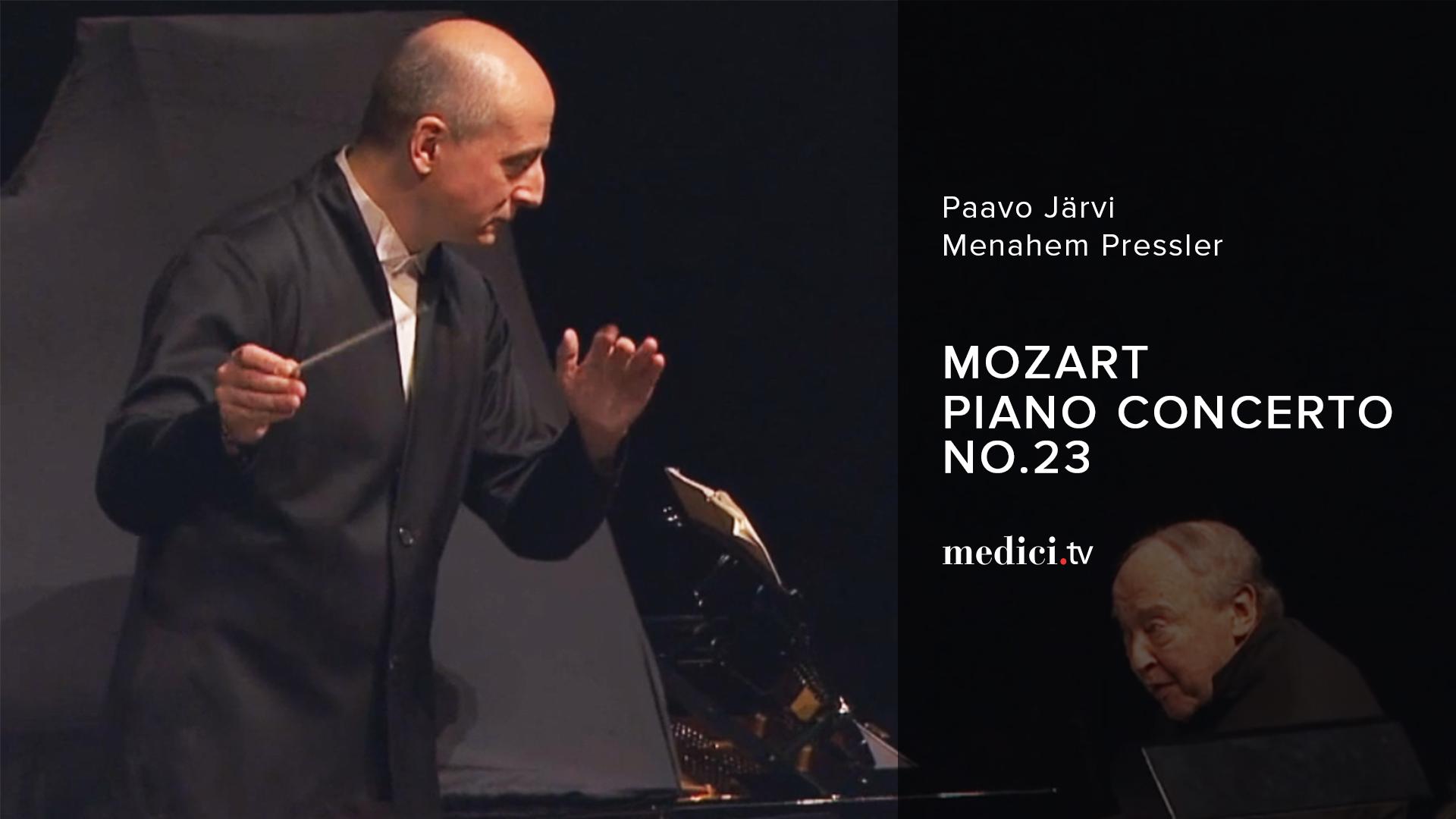 Mozart, Piano Concerto No. 23 - Paavo Järvi, Menahem Pressler - Orchestre de Paris