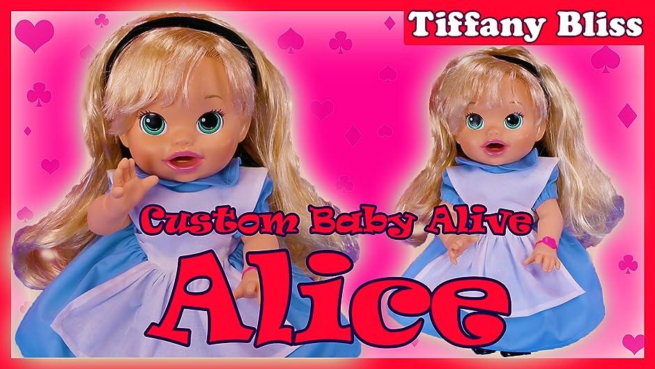 Amazon Com Alice In Wonderland Custom Baby Alive Doll Eats Play Doh