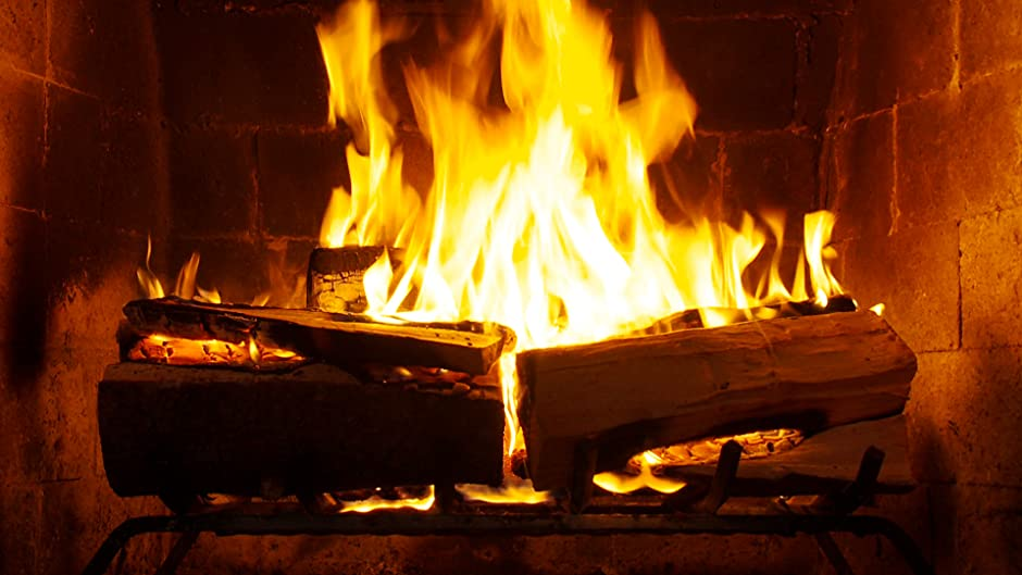 fireplace crackling yule log in hd 1080p free clip library