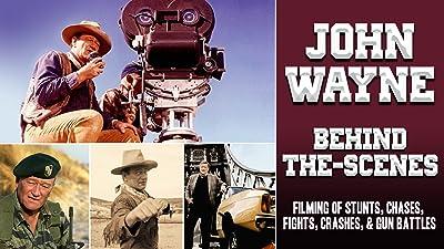 John Wayne Behind-the-Scenes - Filming Of Stunts, Chases, Fights, Crashes, & Gun Battles