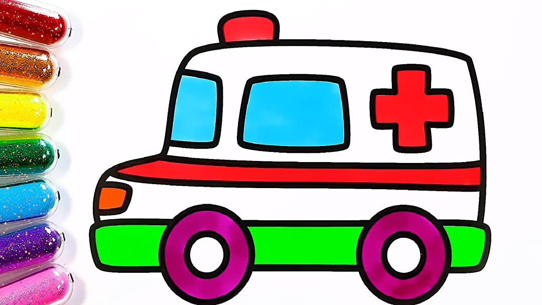 Amazon.com: Learn Coloring And Drawing With Ambulance For Kids: Eric Crane