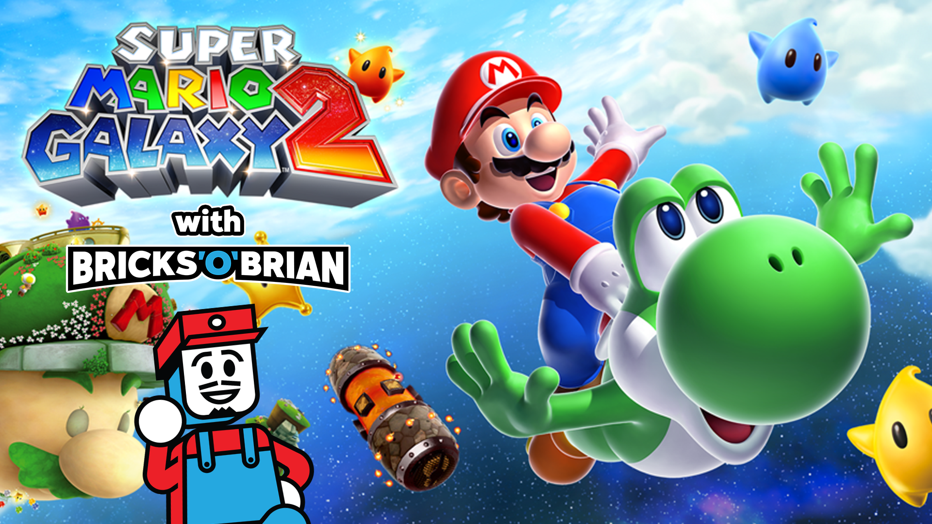 Clip: Super Mario Galaxy 2 with Bricks 'O' Brian!
