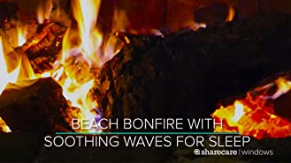 Relaxing Beach Campfire 8 hours