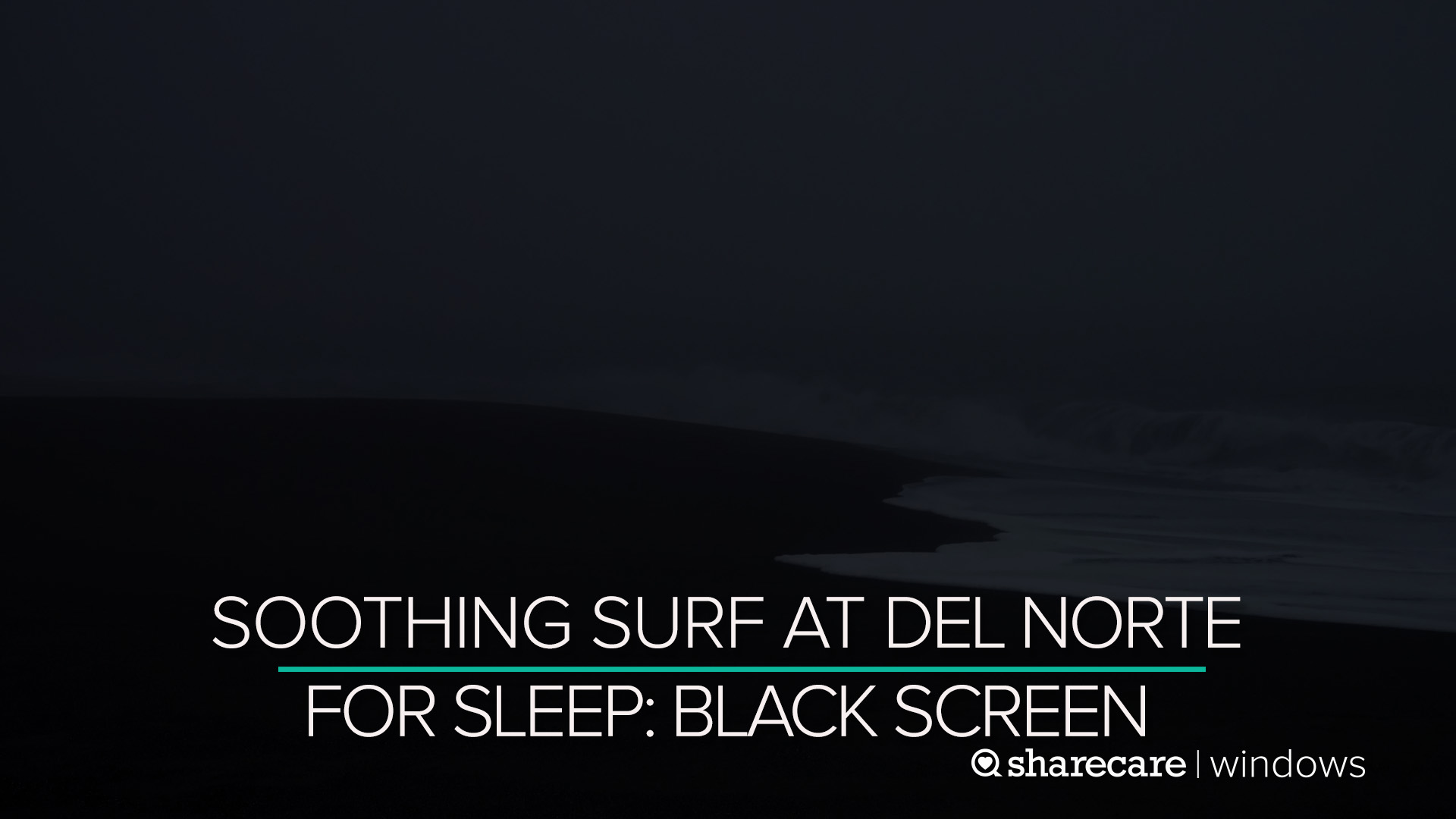 Watch Black Screen Ocean Waves For Sleep 9 Hours Prime Video