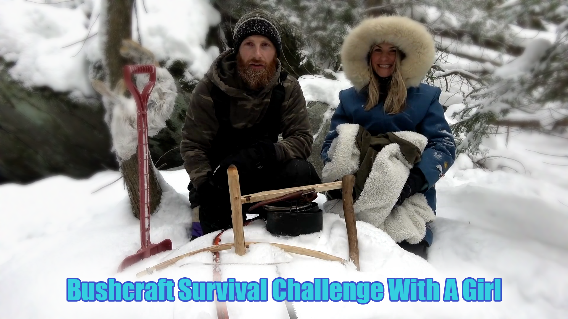 Bushcraft Survival Challenge With A Girl