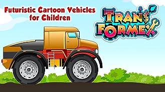 Transformex - Futuristic Cartoon Vehicles for Children