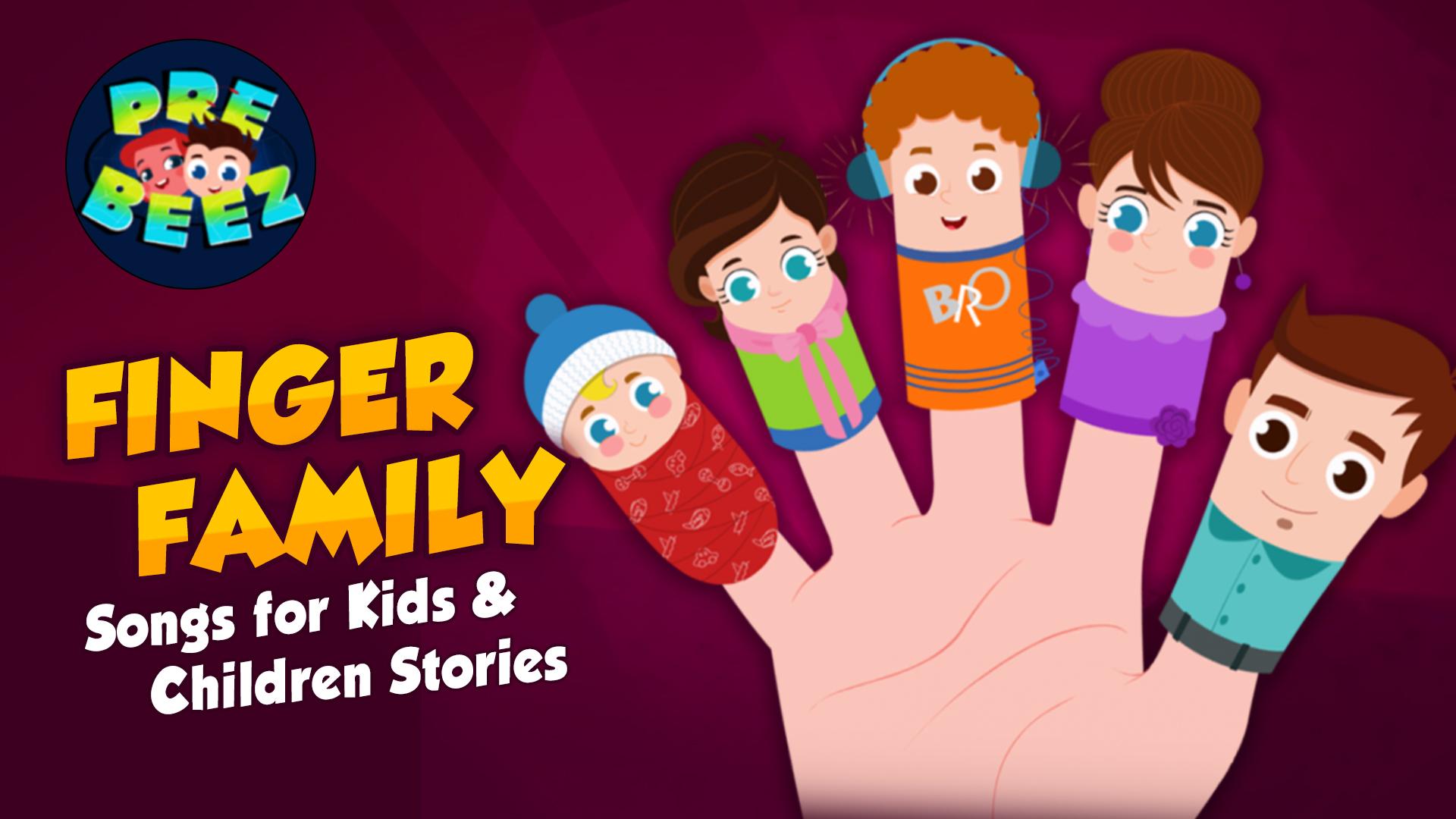 Finger Family Songs for Kids & Children Stories - Preebeez