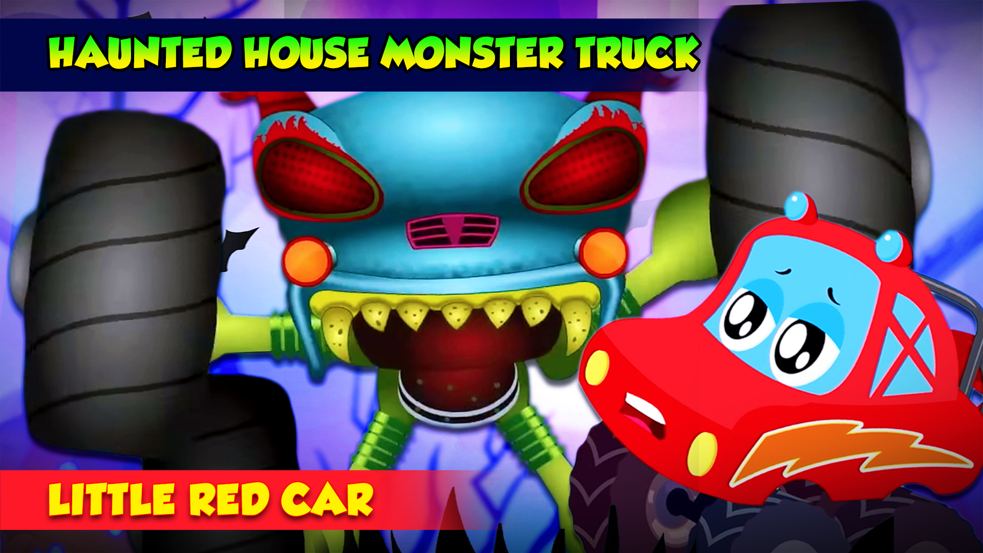 Haunted House Monster Truck Little Red Car