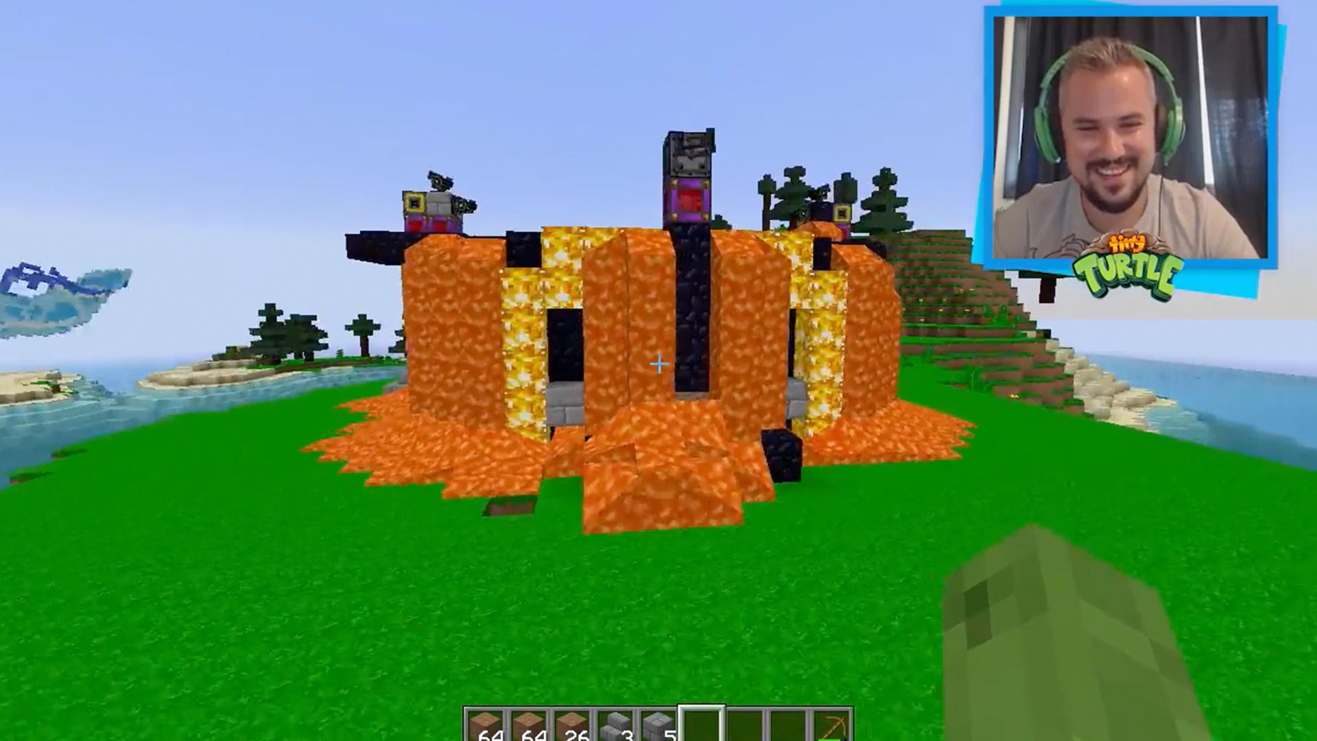 Watch Clip Tiny Turtle Secret Water Base Vs Secret Lava Base Minecraft Challenge Prime Video