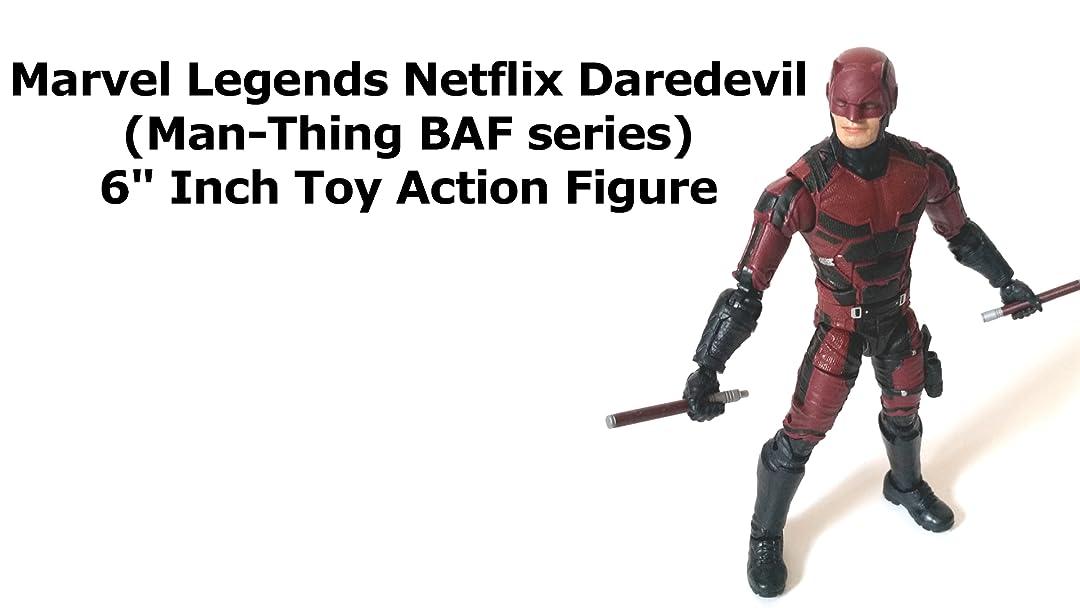 "Marvel Legends 6/"" scale figure Daredevil Man Thing Netflix complete excellent"