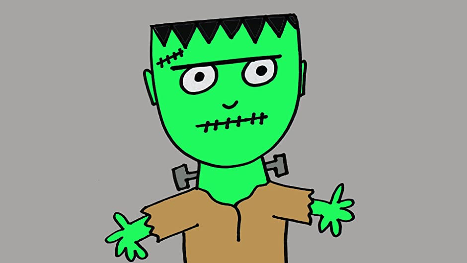 Amazon How To Draw A Cute Frankenstein Cartoon For Kids And