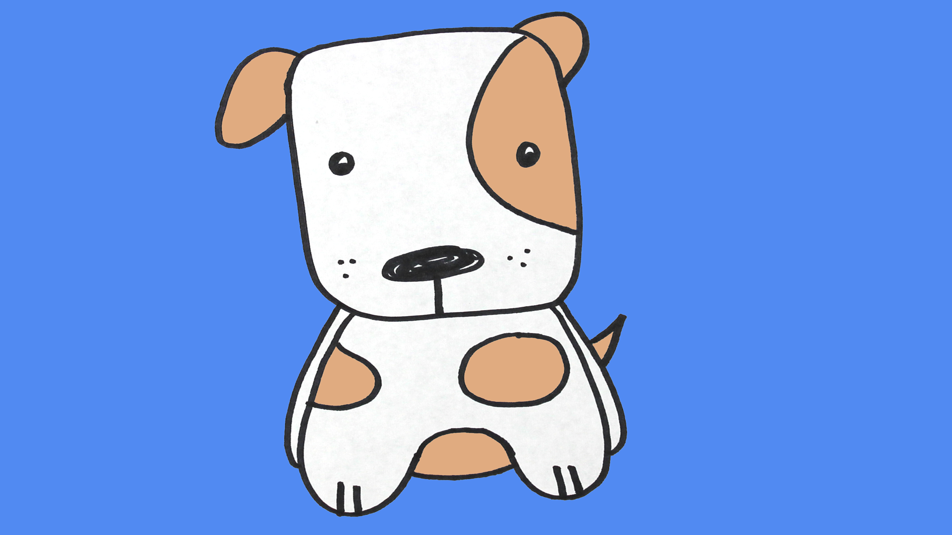 Watch Drawing A Cute Puppy Dog Children S Drawing Tutorial Prime Video