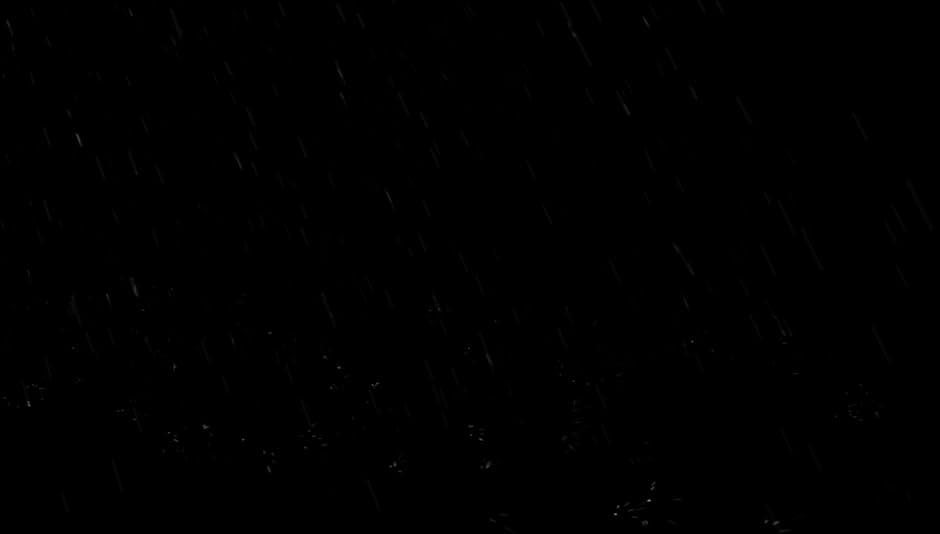 Amazon Com Heavy Rainstorm Falling Onto Black Screen With Distant