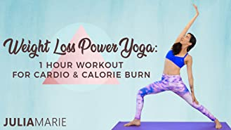 Weight Loss Power Yoga - 1 Hour Workout for Cardio and Calorie Burn with Julia Marie